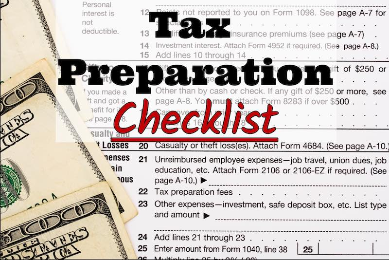 Canberra Company's 2017 Tax Preparation Checklist